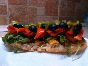 zöldségfasírt zöldségpogácsa szendvics