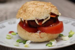 zöldségfasírt szendvics