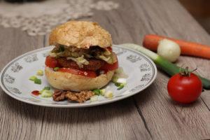 zöldségpogácsa szendvics